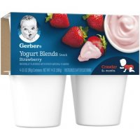 Gerber Yogurt Blends Strawberry 3.5oz 4CT PKG