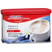 Maxwell House International Coffee French Vanilla Cafe Instant 8.4oz Can