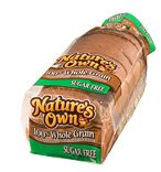 Nature's Own Sugar Free Whole Grain Wheat Bread 16oz. PKG