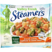 Green Giant Valley Fresh Steamers Broccoli,Carrots,Cauliflower & Cheese Sauce 12oz Bag product image