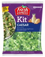 Fresh Express Caesar Salad Kit Complete With Dressing 7.6oz Bag