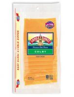 Land O Lakes Sliced Colby Cheese Deli Thin 10CT 8oz PKG