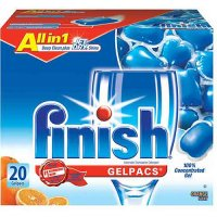 Finish Gelpacs Automatic Dishwasher Detergent Orange Scent 20CT