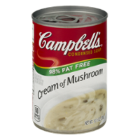 Campbell's Condensed Soup 98% Fat Free Cream of Mushroom Soup 10.7oz Can product image