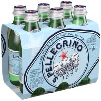 San Pellegrino Sparkling Water 6 Pack 8.45oz Bottles