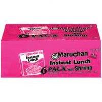 Maruchan Instant Lunch 6 Pack Shrimp Flavor Ramen Noodles 13.5oz PKG