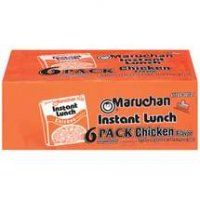 Maruchan Instant Lunch 6 Pack Chicken Flavor Ramen Noodles 13.5oz PKG