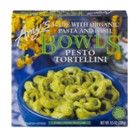 Amy's Bowls Pesto Tortellini with Organic Pasta and Basil 9.5oz PKG product image