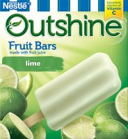 Nestle Frozen Outshine Fruit Bars Lime 6CT 2.75oz Bars 16oz Box