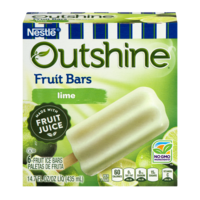 Nestle Frozen Outshine Fruit Bars Lime 6CT 2.75oz Bars 16oz Box
