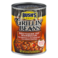 Bush's Grillin Beans Southern Pit Barbecue 22oz Can
