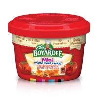 Chef Boyardee Microwave Mini Bites Micro Beef Ravioli 7.5oz Cup