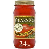 Classico Di Napoli Pasta Sauce Tomato Basil 24oz Jar
