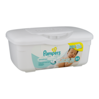 Pampers Baby Wipes Sensitive 64CT Bin