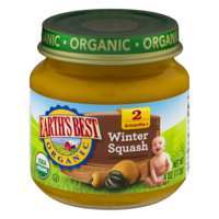 Earth's Best Organic Baby Food 2nd Winter Squash 4oz. Jar