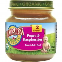 Earth's Best Organic Baby Food 2nd Pears and Raspberries 4oz. Jar