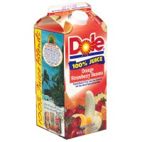 Dole 100% Orange, Strawberry, Banana Juice 59oz BTL