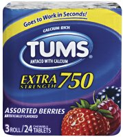 Tums Extra Strength 750 Assorted Fruit  3 Roll Pack