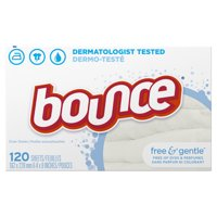 Bounce Fabric Softener Sheets Free of Dyes & Perfumes 120CT
