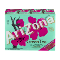 Arizona Green Tea with Ginseng and Honey 12PK of 11.5oz Cans