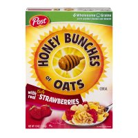 Post Honey Bunches of Oats with Real Tasty Strawberries 13oz Box product image