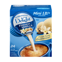 International Delight Creamer French Vanilla 24CT Single Serve PKG