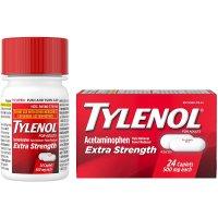 Tylenol Extra Strength Pain Reliever Caplets 24CT Box