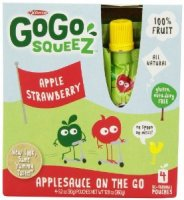 Materne GoGo Squeez Apple Strawberry Applesauce On The Go 3.2oz Pouch 4PK