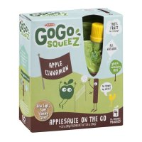 Materne GoGo Squeez Apple Cinnamon Applesauce On The Go 3.2oz Pouch 4PK