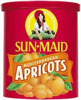 Sun Maid Mediterranean Apricots Dried 15oz Canister