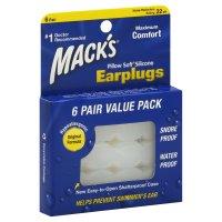 Mack's Pillow Soft Earplugs 6 Pair Value Pack