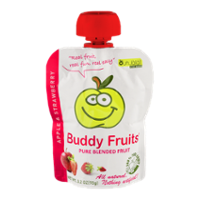 Buddy Fruits Pure Blended Fruit Apple & Strawberry 3.2oz Pouch product image