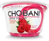 Chobani Non-Fat Greek Yogurt Raspberry 5.3oz Cup