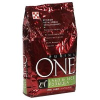 Purina ONE Dry Dog Food Rice and Lamb 8LB Bag