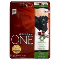 Purina ONE Dry Dog Food Lamb & Rice Formula 16.5LB Bag