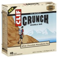 Clif Crunch Granola Bar White Chocolate Macadamia Nut 10 Bar Box
