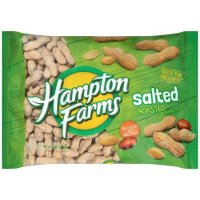 Hampton Farms Salted & Roasted Peanuts In The Shell 24oz Bag product image