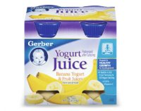 Gerber Yogurt Juice Banana Yogurt & Fruit Juices 4Pk 4oz Bottles