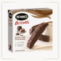 Nonni's Biscotti Triple Milk Chocolate 6.88oz Box