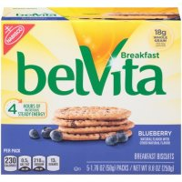 Nabisco belVita Blueberry Breakfast Biscuits 5 Packs Box