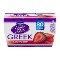 Dannon Light & Fit Greek Nonfat Yogurt Strawberry 5.3oz EA 4PK