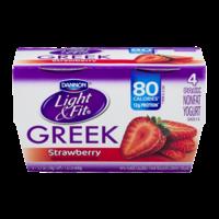 Dannon Light & Fit Greek Nonfat Yogurt Strawberry 5.3oz EA 4PK product image