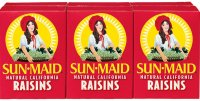 Sun Maid Natural California Snack Raisins 6PK 1oz Boxes