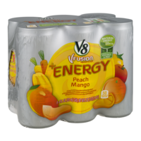 V8 V-Fusion Energy Drink Peach Mango 6Pk 8oz Cans product image