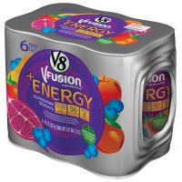 V8 V-Fusion Energy Drink Pomegranate Blueberry 6Pk 8oz Cans