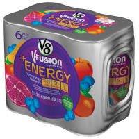 V8 V-Fusion Energy Drink Pomegranate Blueberry 6Pk 8oz Cans product image