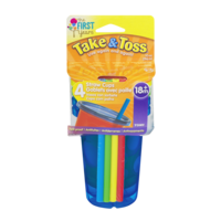 First Years Take & Toss 10oz Straw Cup w/Lids 4Pack 18+m product image