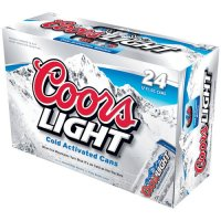 Coors Light Beer Suitcase 24CT 12oz Cans *ID Required*