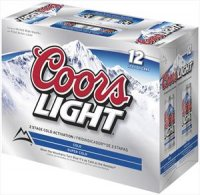 Coors Light Beer 12CT 12oz Cans *ID Required*