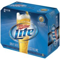 Miller Light Beer 12CT 12oz Cans *ID Required*